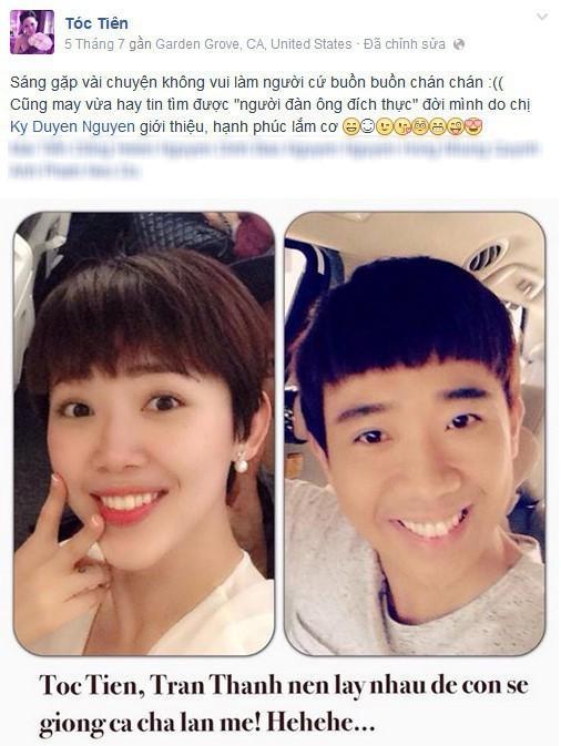 Trấn Thành đăng ảnh bên Tóc Tiên, gợi lại câu nói của cố nghệ sĩ Chí Tài-2