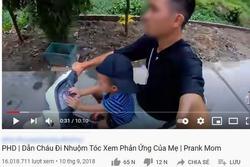 Kênh Youtube cho trẻ nội dung nhảm nhí: Thử thách đập vỡ TV, phá nhà cửa cho vui