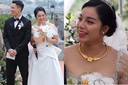 Nhan sắc vợ Bùi Tiến Dũng trong đám cưới ở Hà Nội có gì khác biệt?