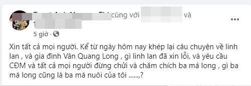 Hội bạn Vân Quang Long làm gì sau khi vợ cố ca sĩ lên tiếng xin lỗi?-5