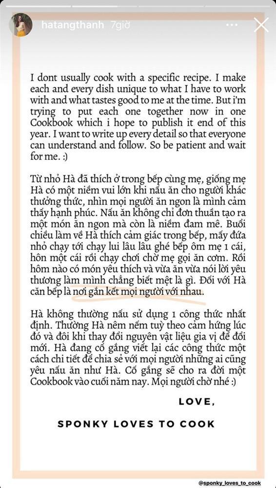 Cuối cùng Hà Tăng cũng đã chuẩn bị ra mắt sách nấu ăn, lời tâm sự về quá trình thực hiện gây xúc động mạnh-4
