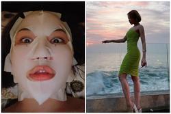 Giật mình hot girl Trâm Anh làm đẹp: Đắp mặt nạ, nằm trợn mắt khoe môi dày như tiêm filter