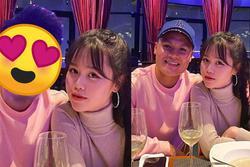 Huỳnh Anh đăng ảnh cùng Quang Hải nhưng lại sửa chi tiết đặc biệt