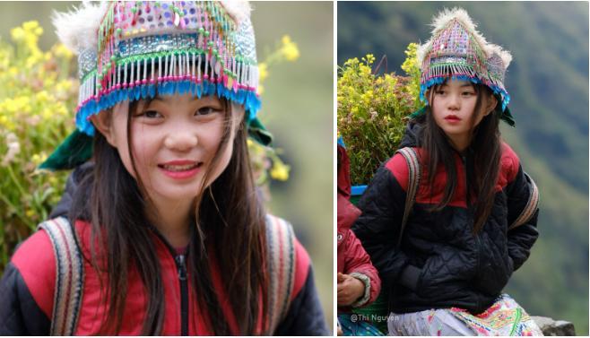 Những bé gái xinh xắn trên cung đường phượt Hà Giang-1