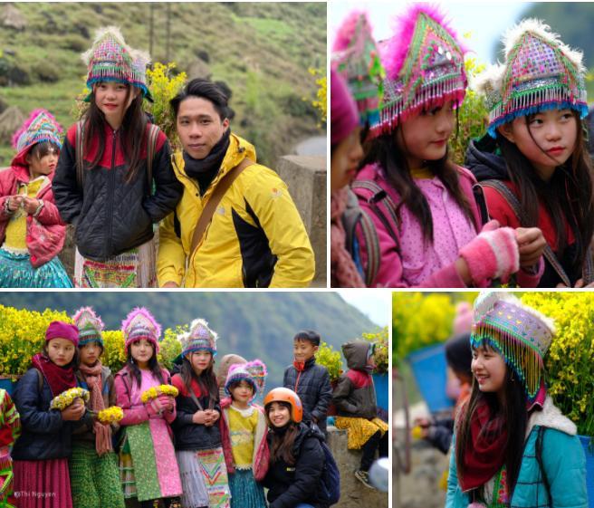 Những bé gái xinh xắn trên cung đường phượt Hà Giang-2