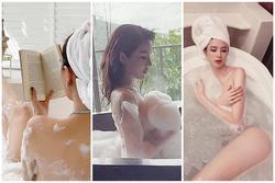 1001 kiểu pose dáng sexy bên bồn tắm của dàn mỹ nhân Việt