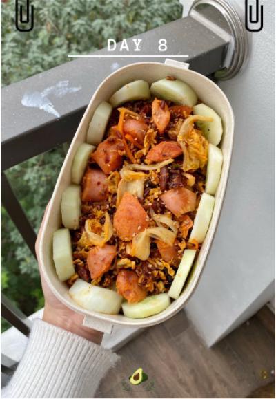 Nhìn hộp cơm ăn theo chế độ Eatclean của nàng sinh viên, ai cũng có động lực giảm cân-9