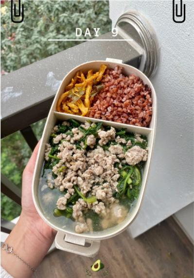 Nhìn hộp cơm ăn theo chế độ Eatclean của nàng sinh viên, ai cũng có động lực giảm cân-10