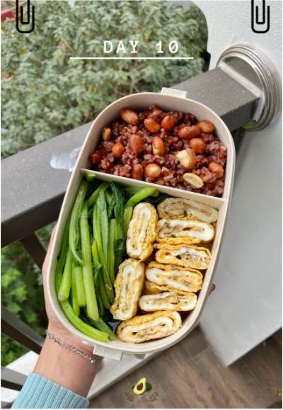 Nhìn hộp cơm ăn theo chế độ Eatclean của nàng sinh viên, ai cũng có động lực giảm cân-12
