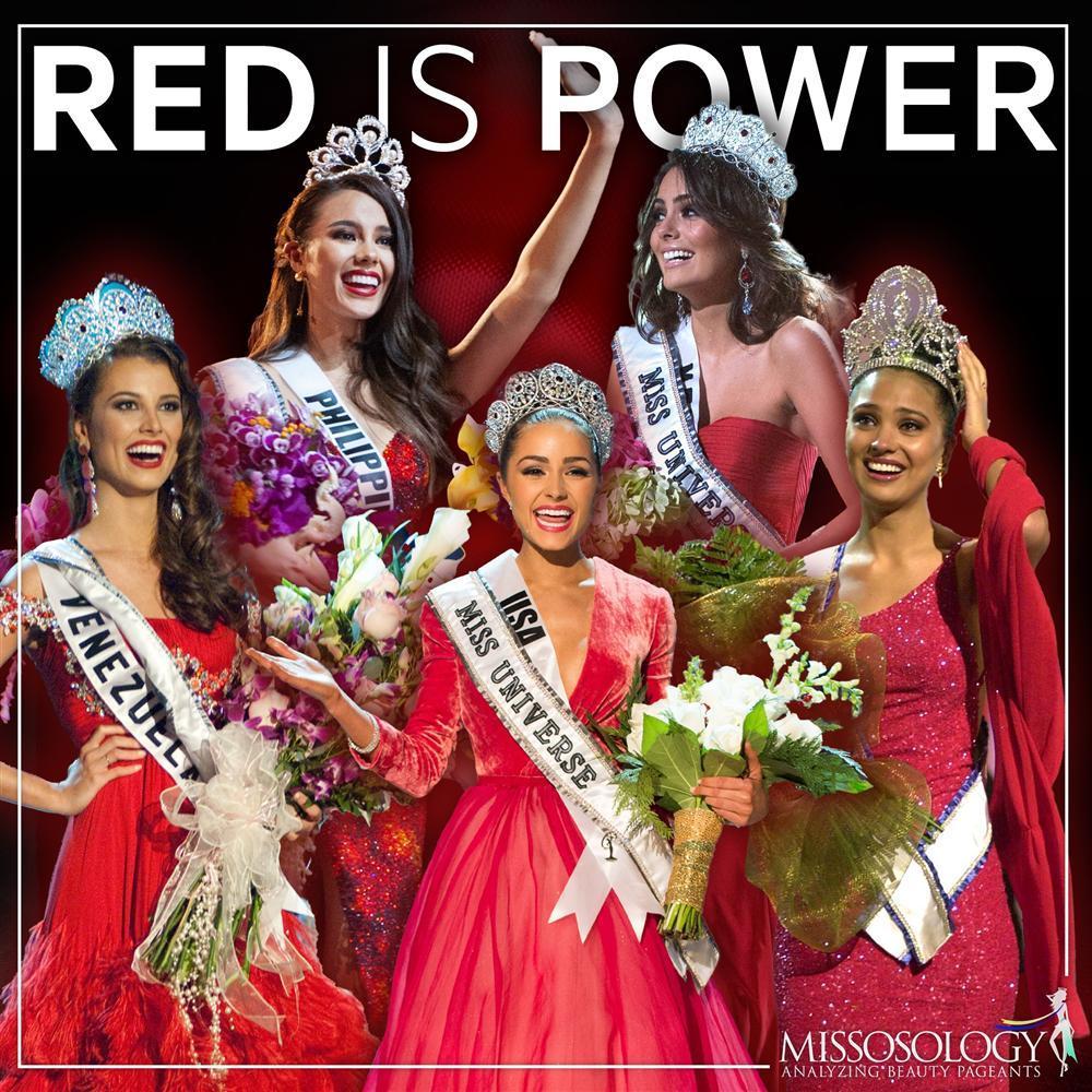 Những Hoa hậu Hoàn vũ lên ngôi với tuyệt tác đầm đỏ trong 2 thập kỷ qua-1