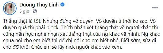 Hoa hậu Dương Thùy Linh từ mặt bạn thân vì thói góp ý vô duyên-2