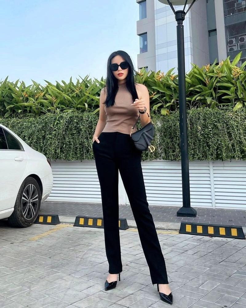 Phối đồ dạo phố tông xanh đẹp mắt như Hari Won - Yến Trang-2