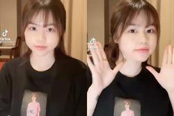 Hết sờ lên poster của R.Tee, bạn gái cũ Quang Hải lại chuyển sang mặc áo in hình nam rapper?