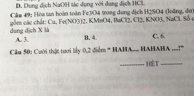 Xuất hiện đề thi có nội dung lạ, học sinh đọc xong cười không ngậm được miệng-1