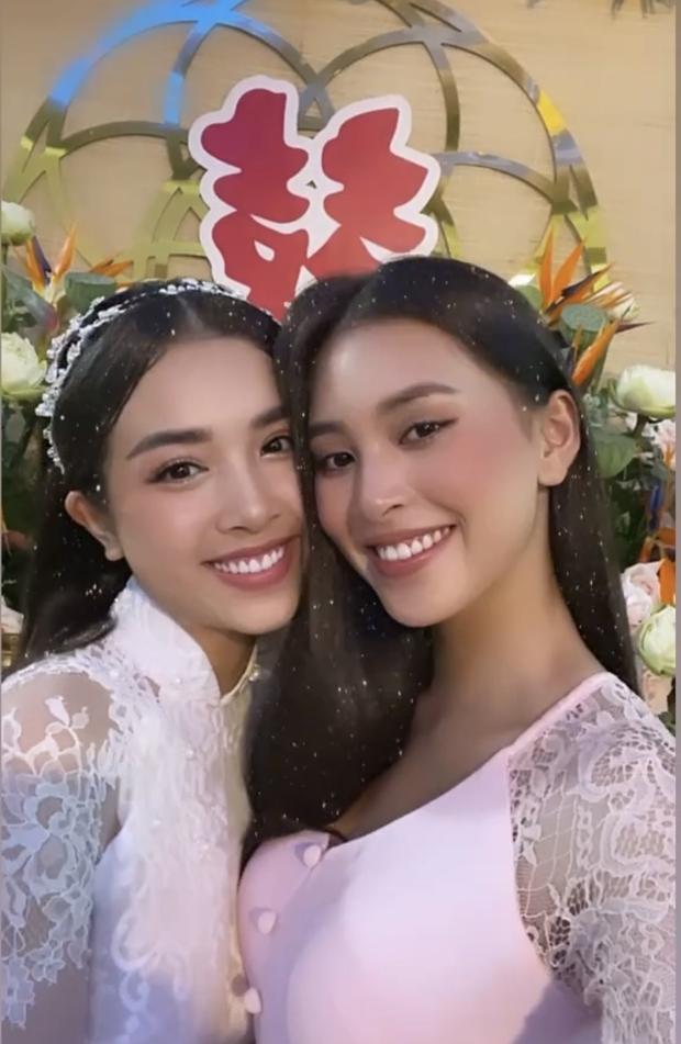 Lộ thiệp mời đám cưới ở TP.HCM của Á hậu Thúy An, Tiểu Vy xác nhận đến dự-2