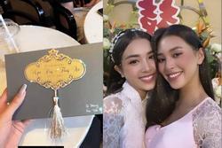 Lộ thiệp mời đám cưới ở TP.HCM của Á hậu Thúy An, Tiểu Vy xác nhận đến dự