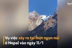 Tuyết lở từ đỉnh núi ở Nepal