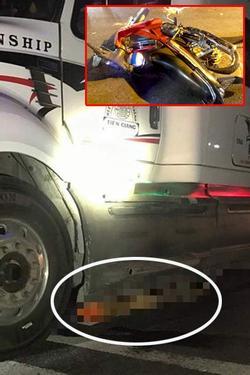 Thi thể nạn nhân bị xe container kéo đi gần 60 km sau tai nạn