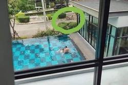 Bức ảnh gây bão khi vô tình ghi lại 'hành động lạ' cặp đôi ở hồ bơi