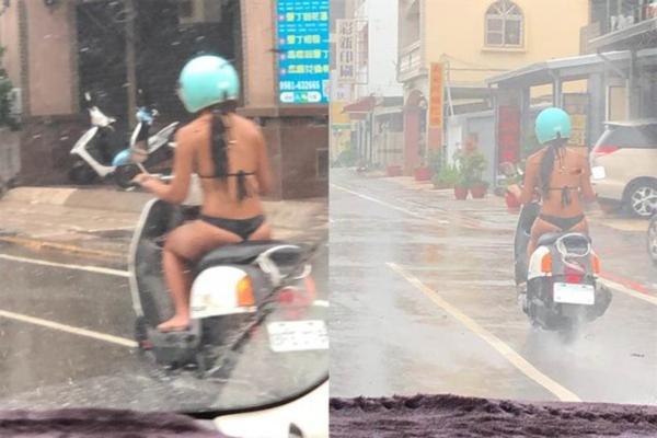 3 cô gái khiến dân tình sôi máu, diện bikini lọt khe chạy xe ầm ầm trên phố-4