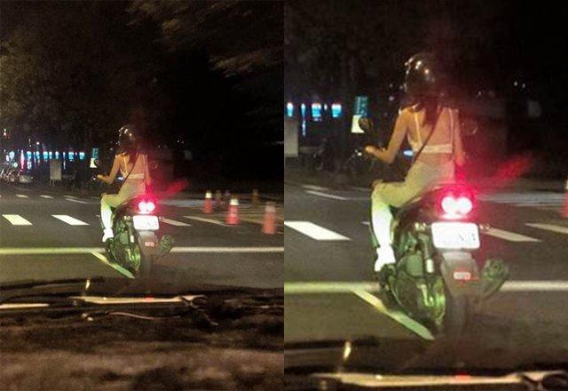 3 cô gái khiến dân tình sôi máu, diện bikini lọt khe chạy xe ầm ầm trên phố-5