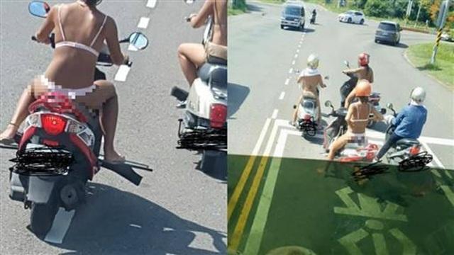 3 cô gái khiến dân tình sôi máu, diện bikini lọt khe chạy xe ầm ầm trên phố-2