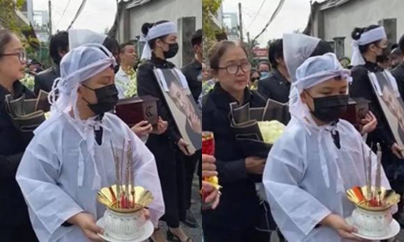 Vợ cũ, vợ mới thất thần trong lễ an táng Vân Quang Long-2