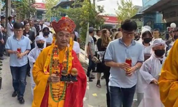 Vợ cũ, vợ mới thất thần trong lễ an táng Vân Quang Long-3