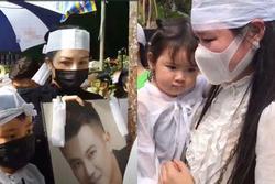 Vợ cũ, vợ mới thất thần trong lễ an táng Vân Quang Long