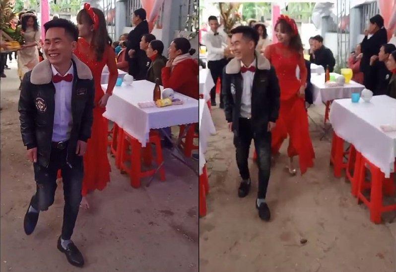 Xôn xao clip chú rể 15 tuổi lấy vợ ở Hà Tĩnh-1