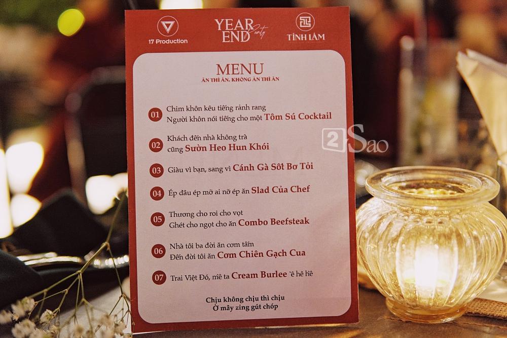 Thích thú với tên gọi món ăn mỹ miều trong menu tiệc cuối năm của Huỳnh Lập-2