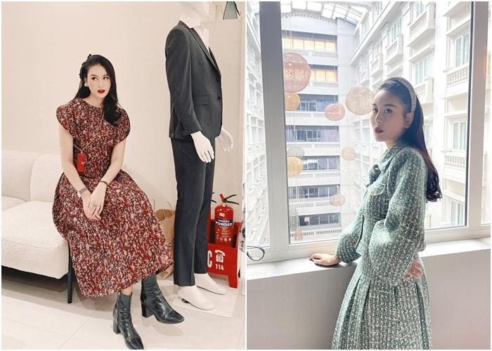 Diện đồ họa tiết chuẩn như Thanh Hằng, Hà Tăng giúp nàng nổi bật dịp Tết 2021-7
