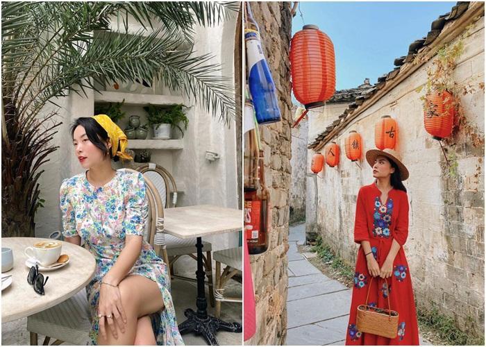 Diện đồ họa tiết chuẩn như Thanh Hằng, Hà Tăng giúp nàng nổi bật dịp Tết 2021-14