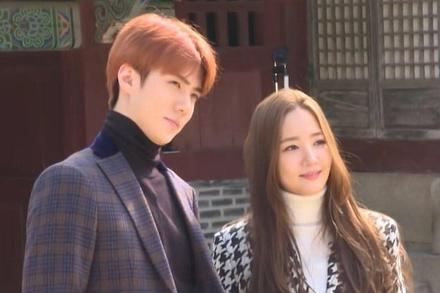 Park Min Young và Sehun (EXO) trong ảnh chưa chỉnh sửa