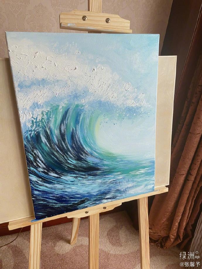 Trương Hinh Dư chứng minh tài năng hội họa xuất sắc-3