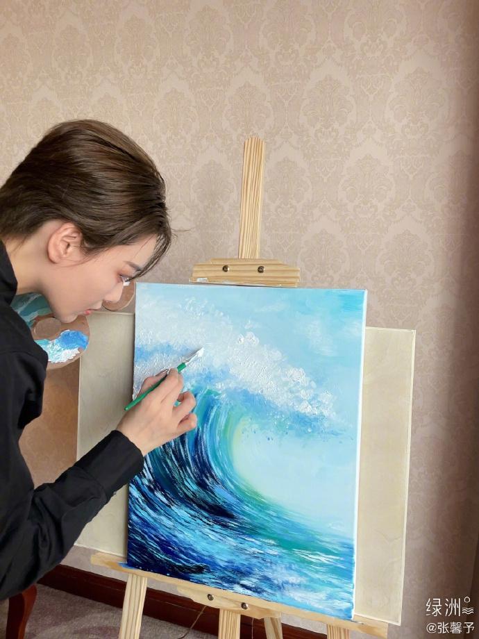Trương Hinh Dư chứng minh tài năng hội họa xuất sắc-4