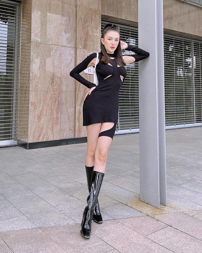 Lệ Quyên lộ bé mỡ vì quần da - Đàm Thu Trang lấy lại eo thon nhỏ tí-6