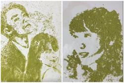Kỳ công vẽ Sơn Tùng, Bảo Trâm và Hải Tú bằng trà xanh, chàng trai nhận mưa lời khen