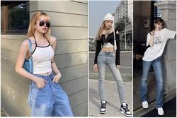 Học Thiều Bảo Trâm cách phối quần jeans vừa hack dáng vừa trendy