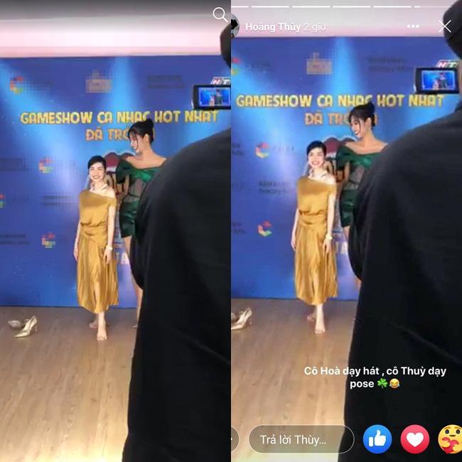 Hòa Minzy bị cà khịa đứng mà như ngồi khi đọ dáng 4 mỹ nhân Hoàn vũ-8