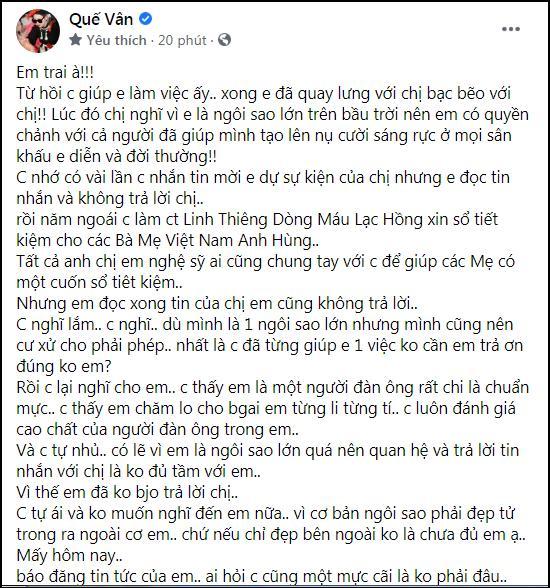 HOT: Quế Vân tung bằng chứng tố Sơn Tùng lật mặt như lật bánh tráng-4