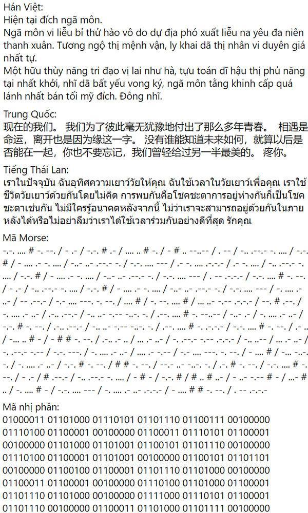 Cười mỏi miệng lời nhắn Thương em của Sơn Tùng được chế cháo nhiều ngôn ngữ-3