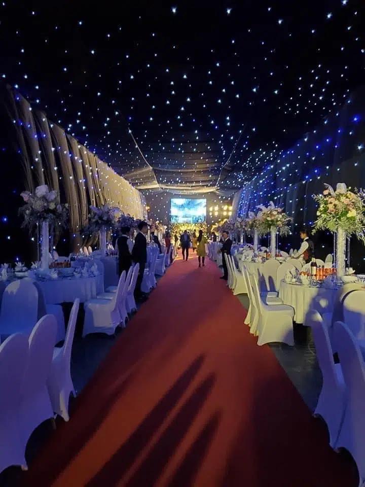 Không gian, thực đơn đám cưới khủng trong lâu đài dát vàng ở Ninh Bình-5