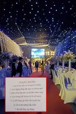 Không gian, thực đơn đám cưới 'khủng' trong lâu đài dát vàng ở Ninh Bình
