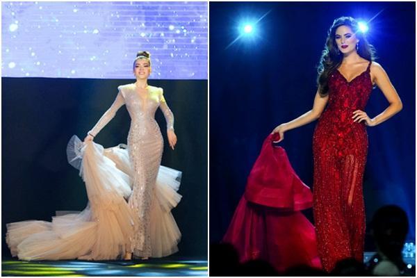 Màn catwalk lột váy của tân Hoa hậu chuyển giới Trân Đài bị bóc học lỏm Á hậu người Mexico-4