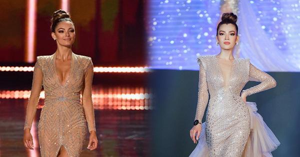 Màn catwalk lột váy của tân Hoa hậu chuyển giới Trân Đài bị bóc học lỏm Á hậu người Mexico-7