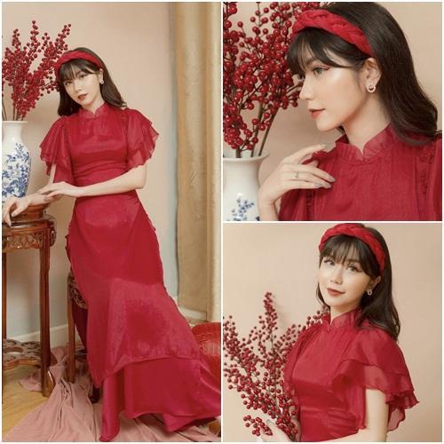 Tết chưa đến mà Chi Pu - Sun Ht - Huyền My đã xúng xính áo dài-6