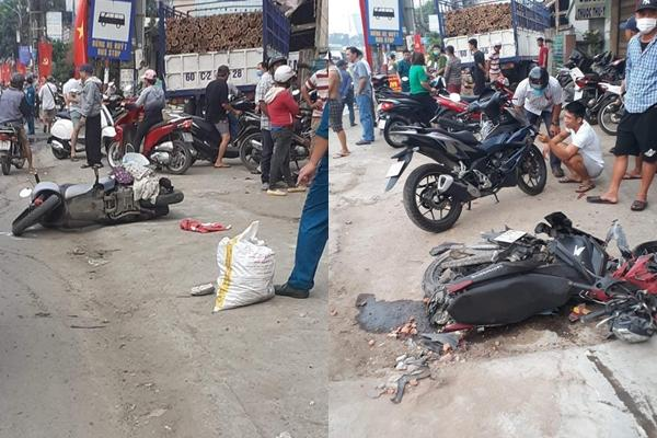 Biên Hòa: 2 xe tải va chạm, lao lên vỉa hè tông vào nhà dân, người nằm la liệt-1