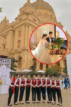 Lộ diện cô dâu chú rể 'trâm anh thế phiệt' trong lâu đài dát vàng: Riêng tiền cỗ 14 tỷ đồng