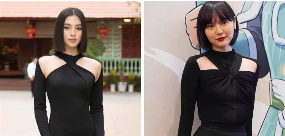 Diện cùng kiểu váy khoét sâu, Hoa hậu Tiểu Vy được khen ăn đứt Hải Tú-7